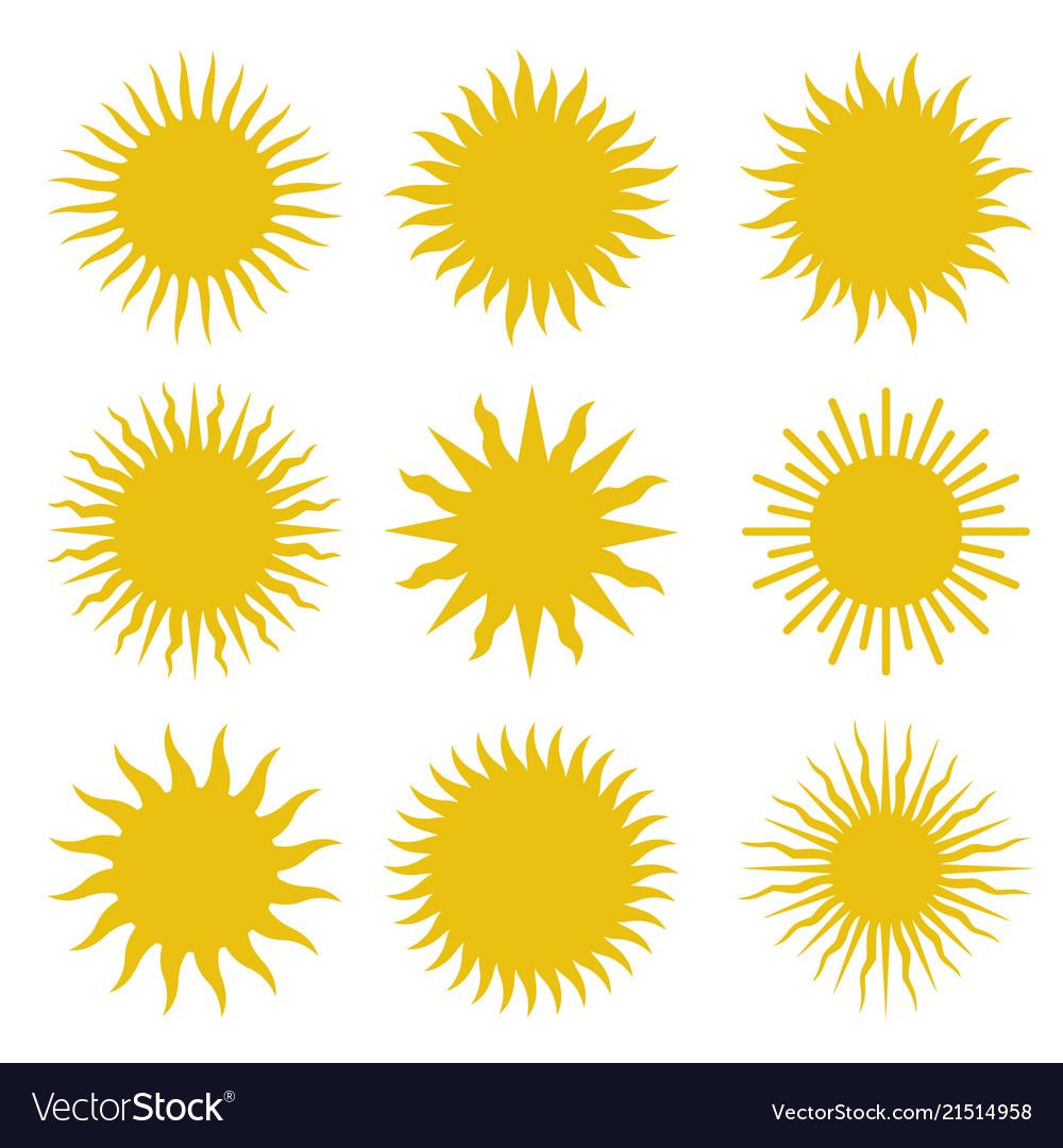 Rays beams element sunburst set