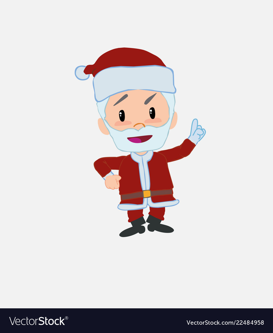 Santa claus talking very determined and optimistic