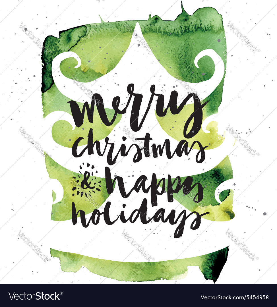 Christmas Card Images Handmade.Spruce Christmas Card Handmade Hand Lettering