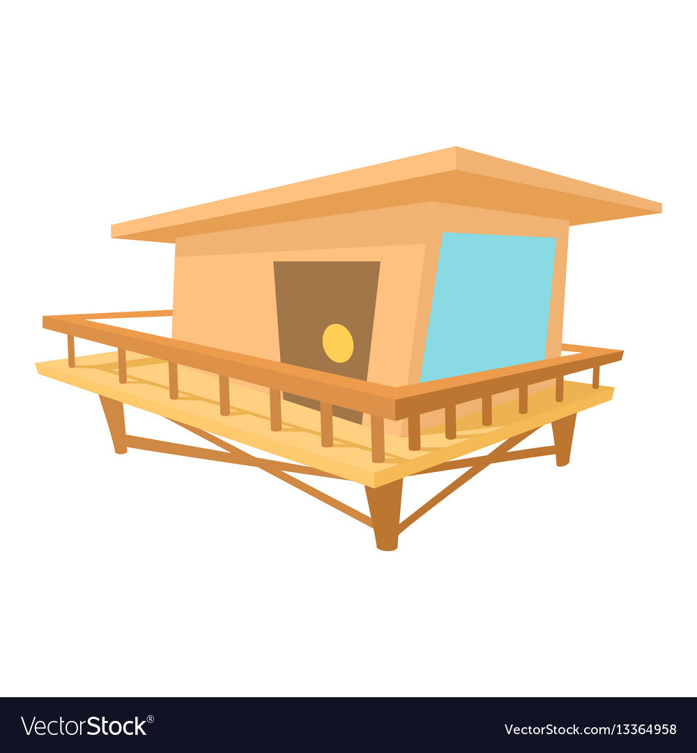 Stilt house icon cartoon style vector image
