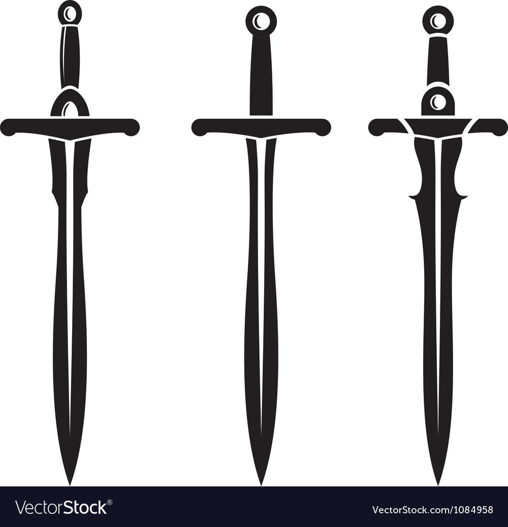 Sword Ancient Weapon Design vector image