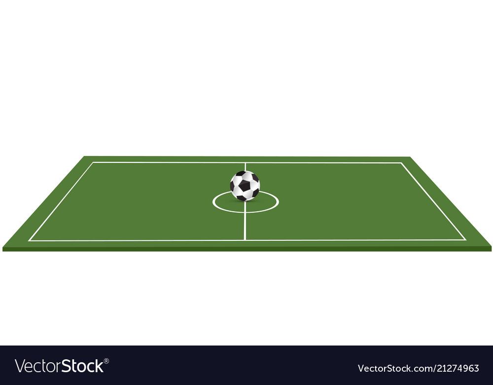 Ball lies on the grass a football match