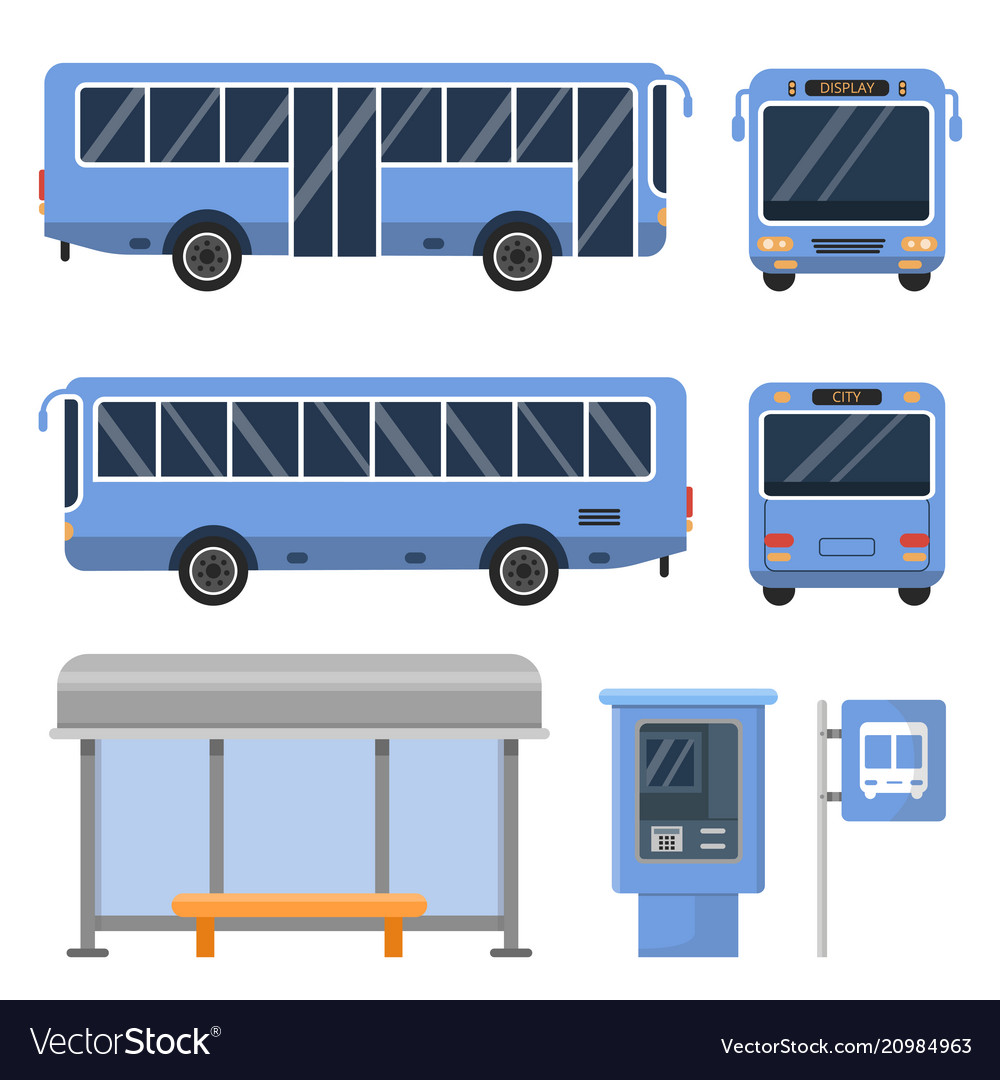 Bus stop and various views of