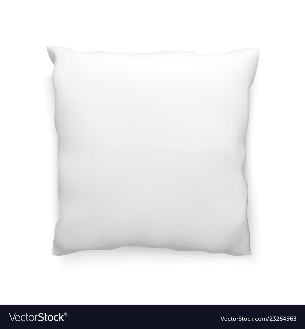 Clean pillow mock-up template for design