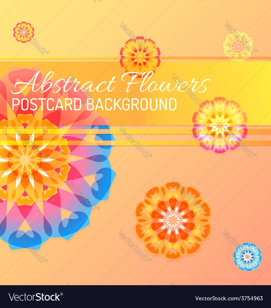 Color abstract flowers background