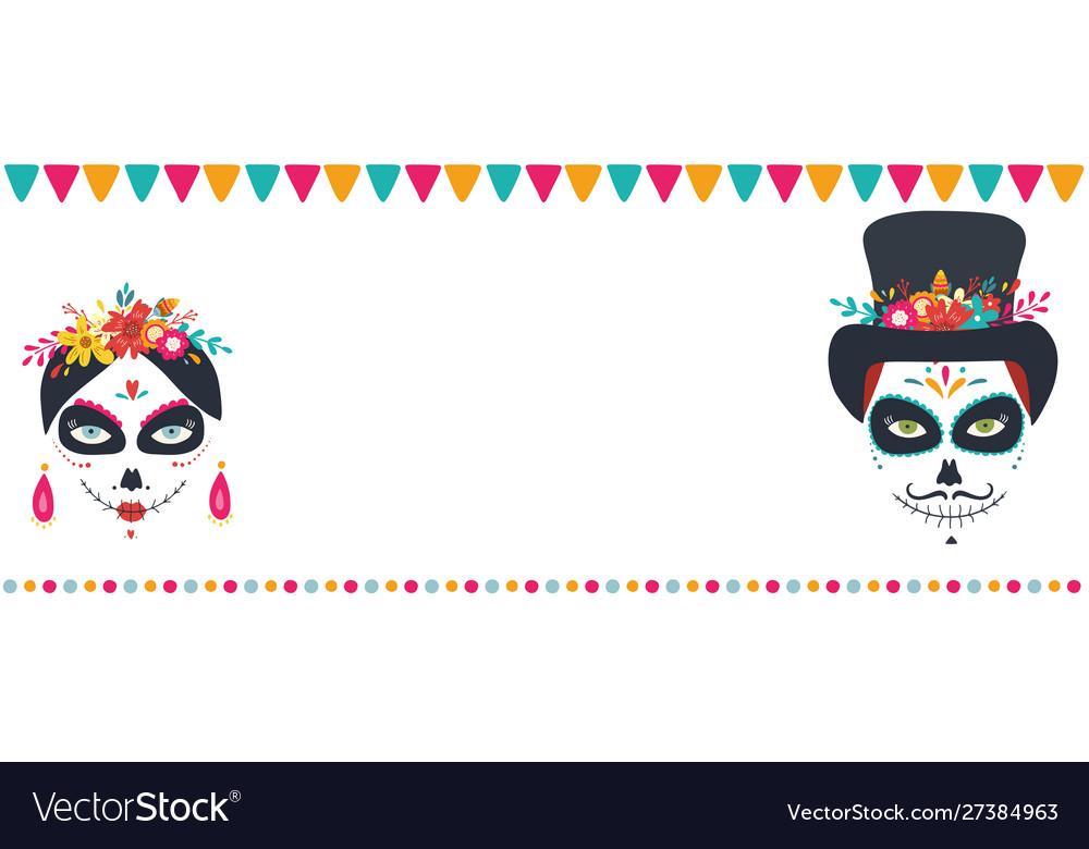 Dia de los muertos day dead mexican