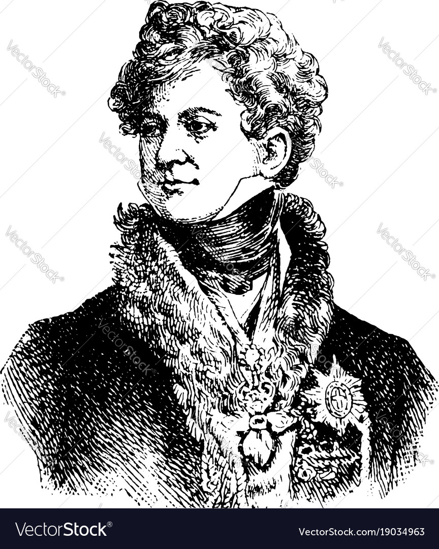 george iv king of england vintage royalty free vector image
