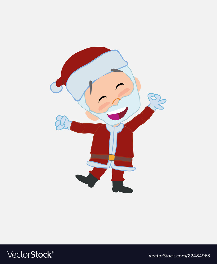 Santa claus exulting in happiness