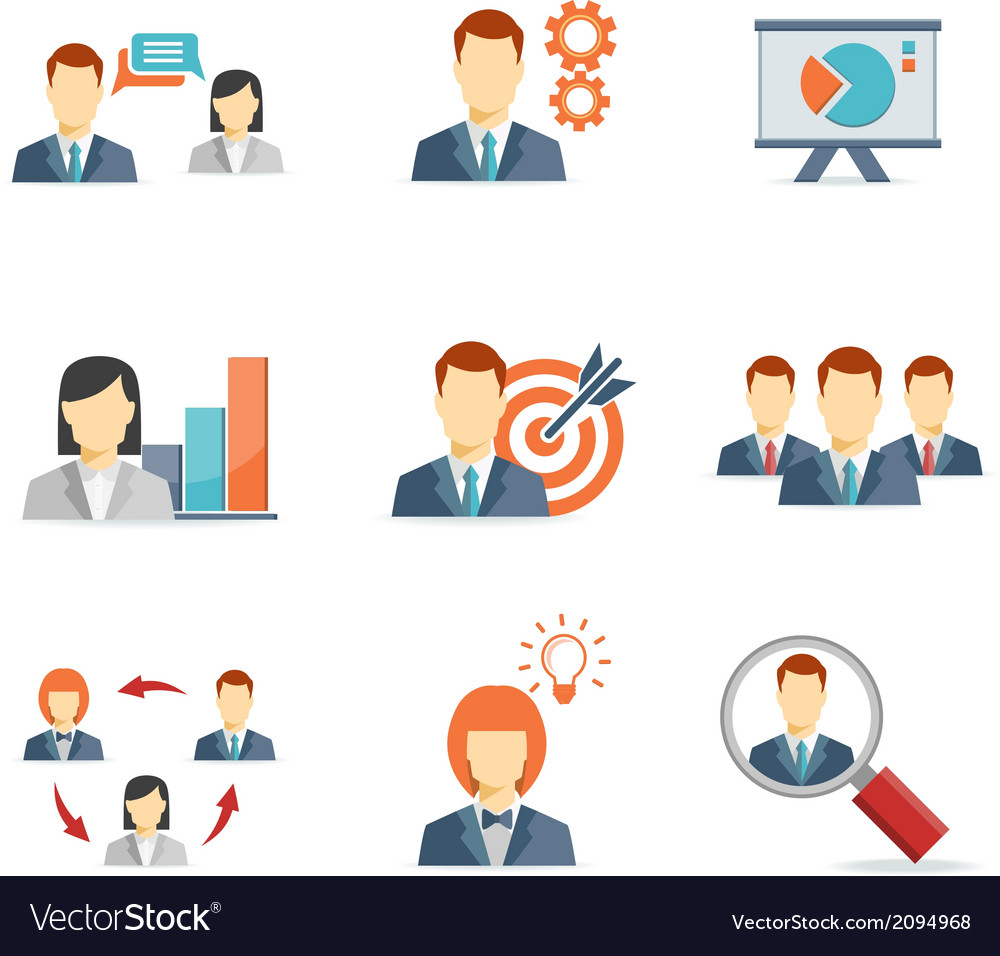 Business people for Web and Mobile App vector image