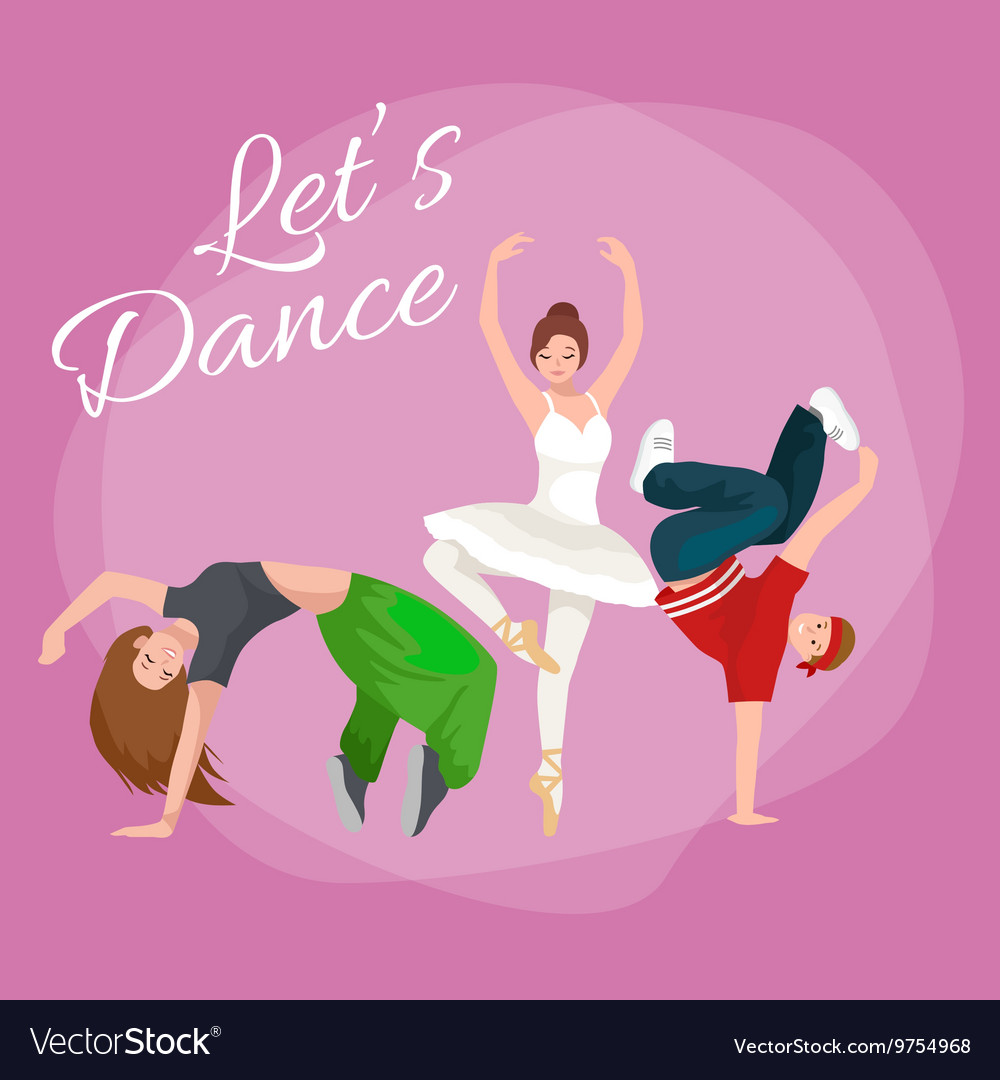 Couple dancing modern dance
