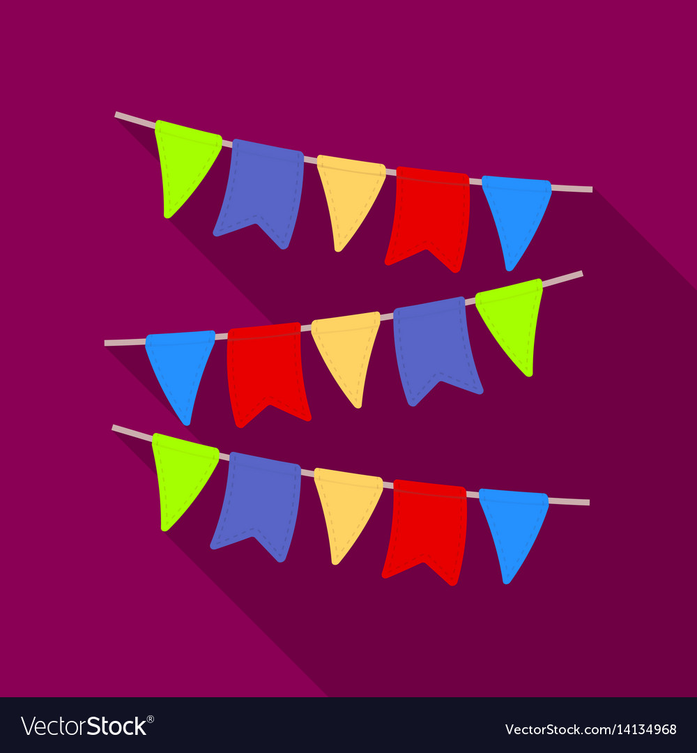 Festive colorful ribbons party and parties single