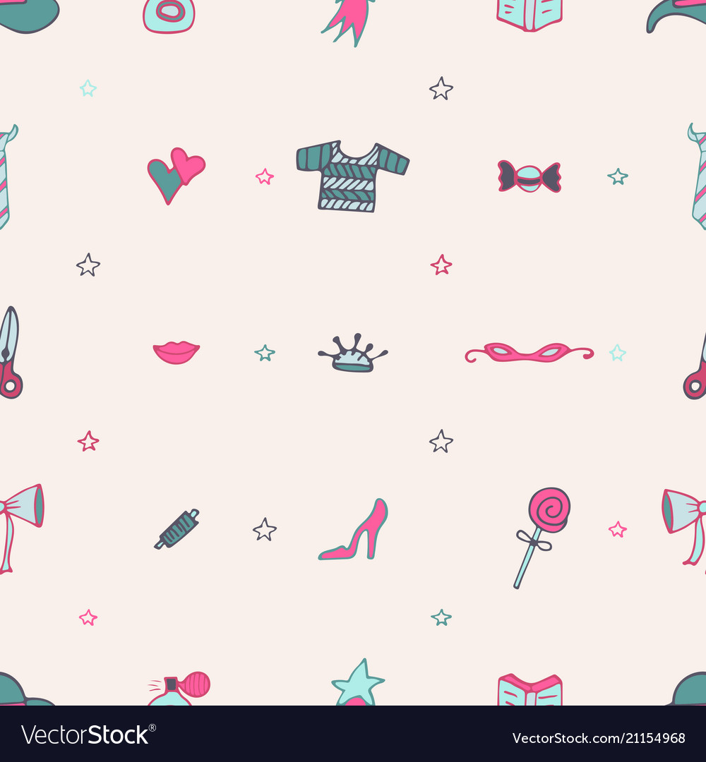 Lovely seamless pattern with tools for knitting