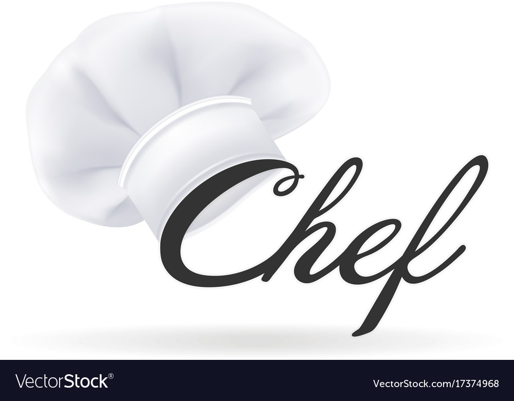 Photorealistic modern white chef hat cooks hat