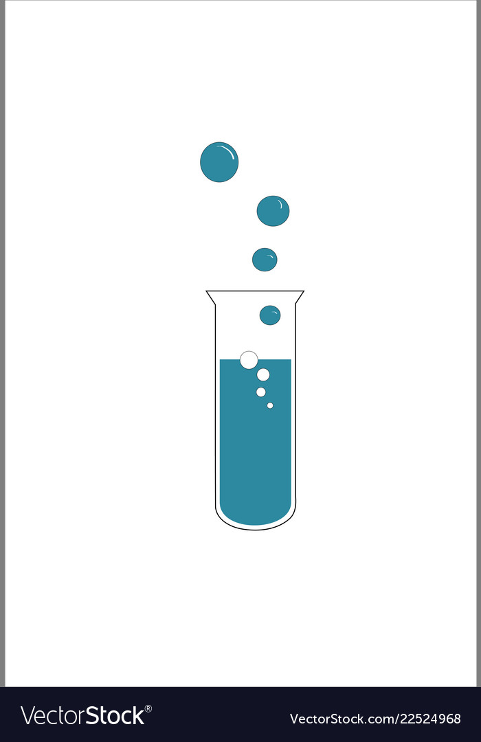 Test tube with bubbles