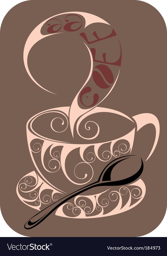 Coffeetea design vector image