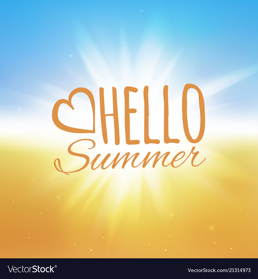 Hello summer beach and the