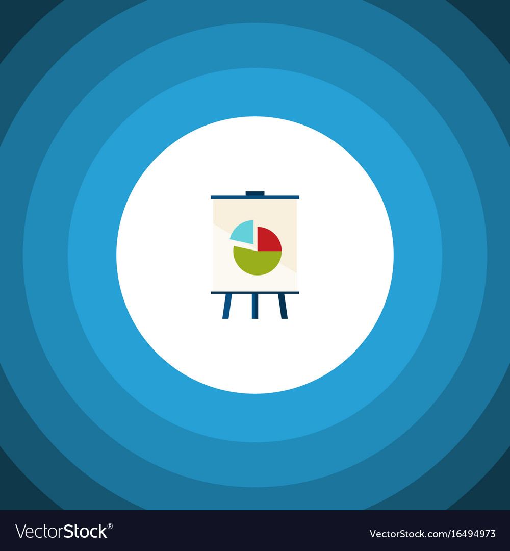 Isolated chart flat icon easel element can