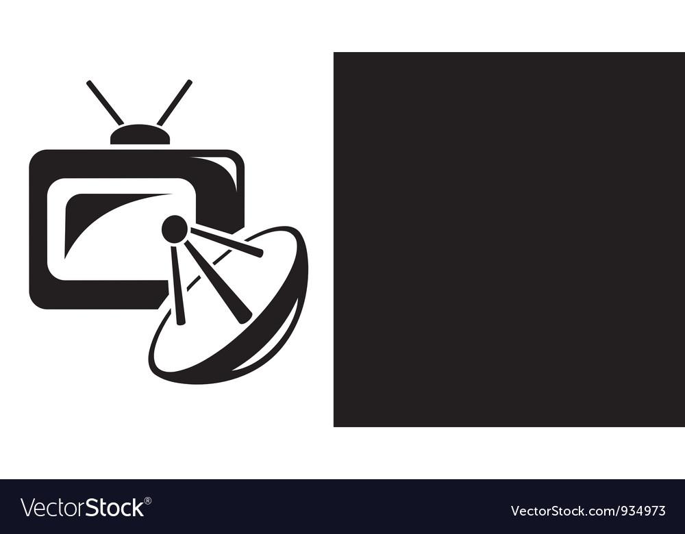 Satellite Tv Royalty Free Vector Image Vectorstock