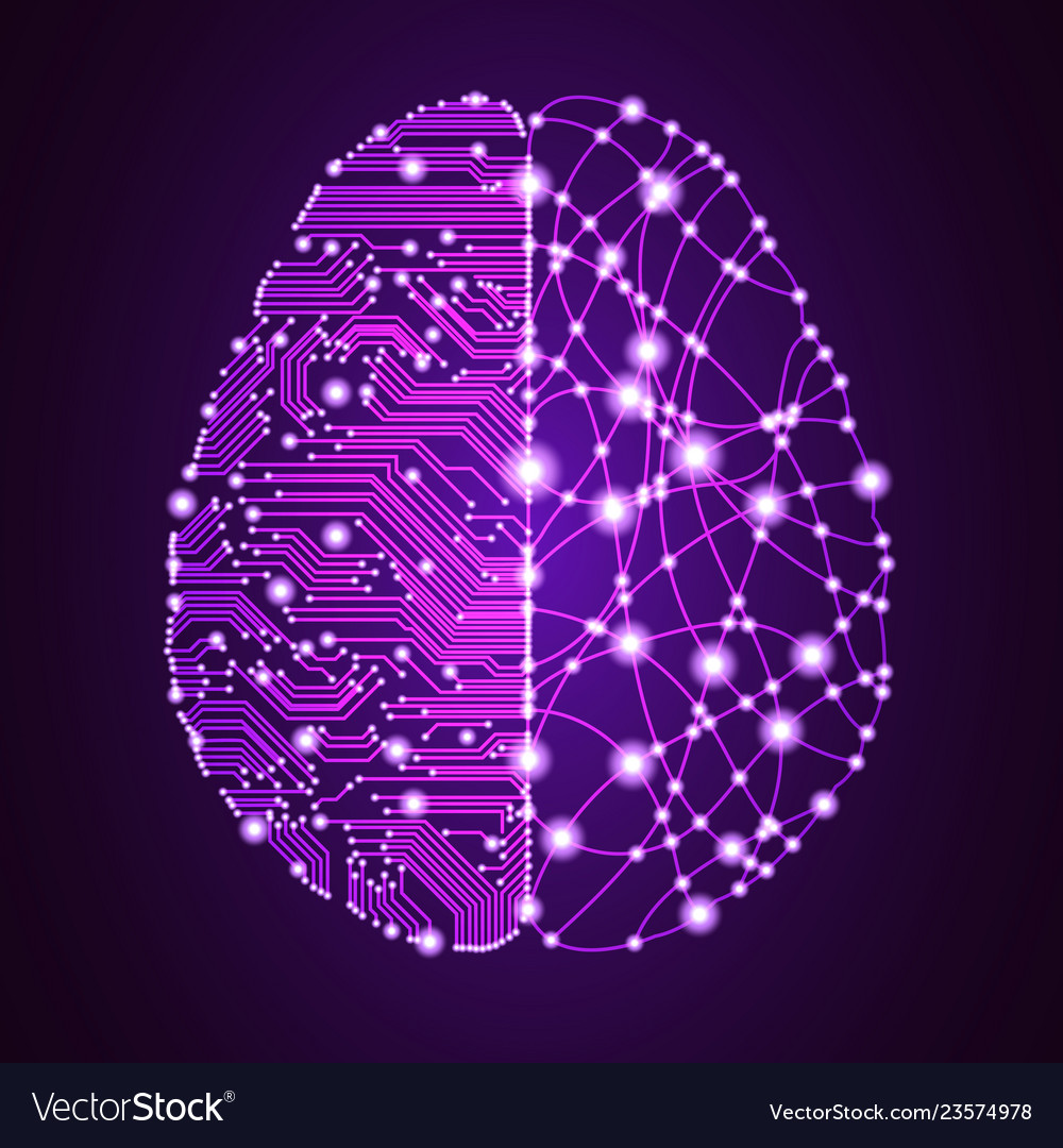 Big data and artificial intelligence brain concept