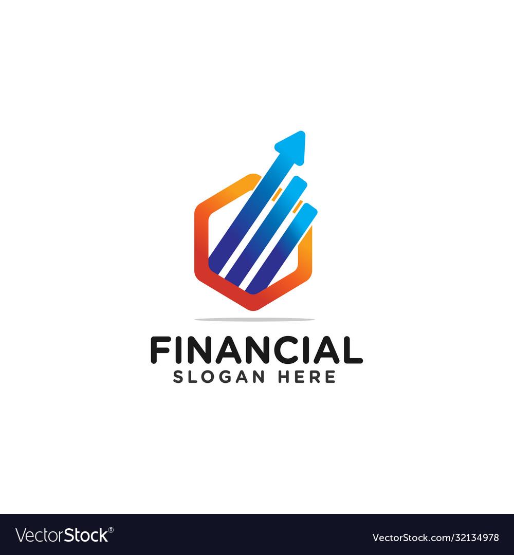 Financial Logo Design Modern Template Royalty Free Vector