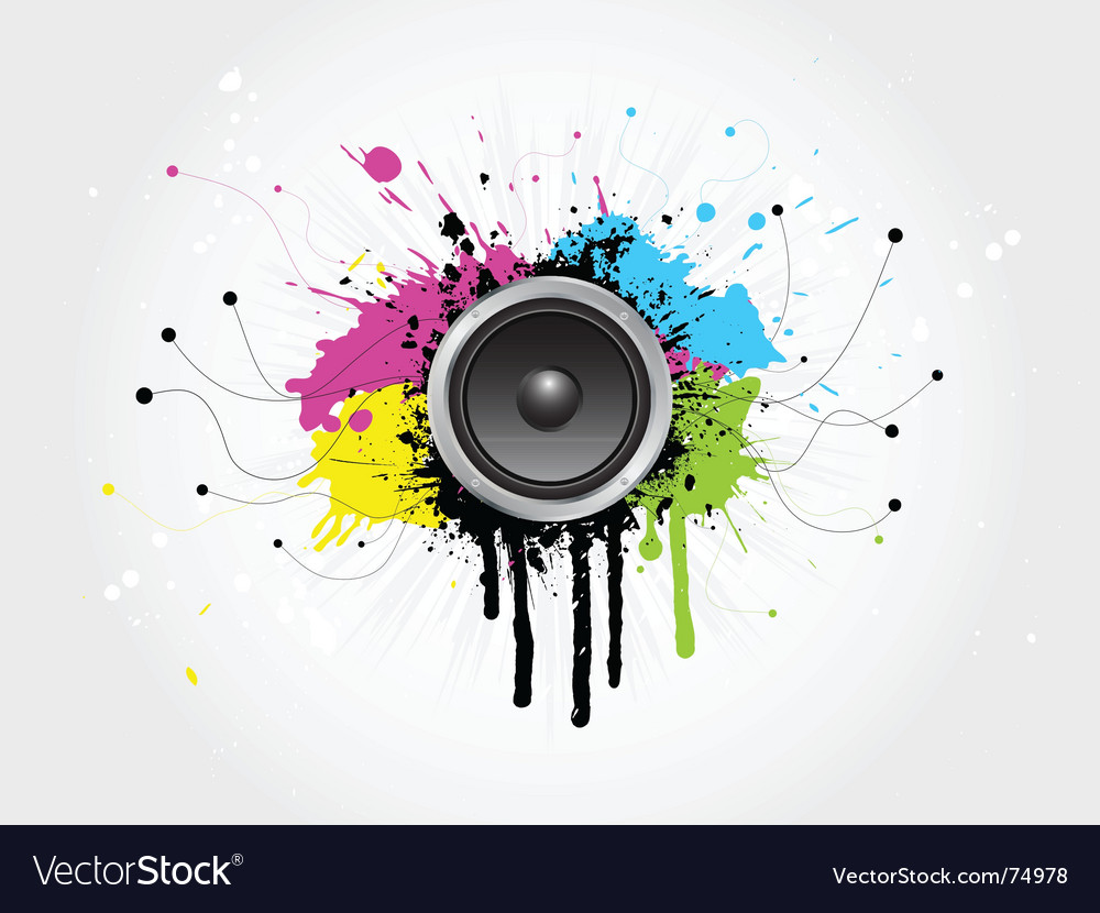 Grunge sound vector image