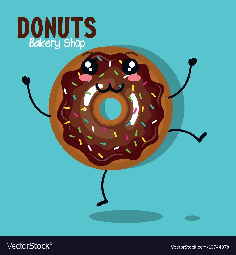 Icon donut cream chocolate graphic