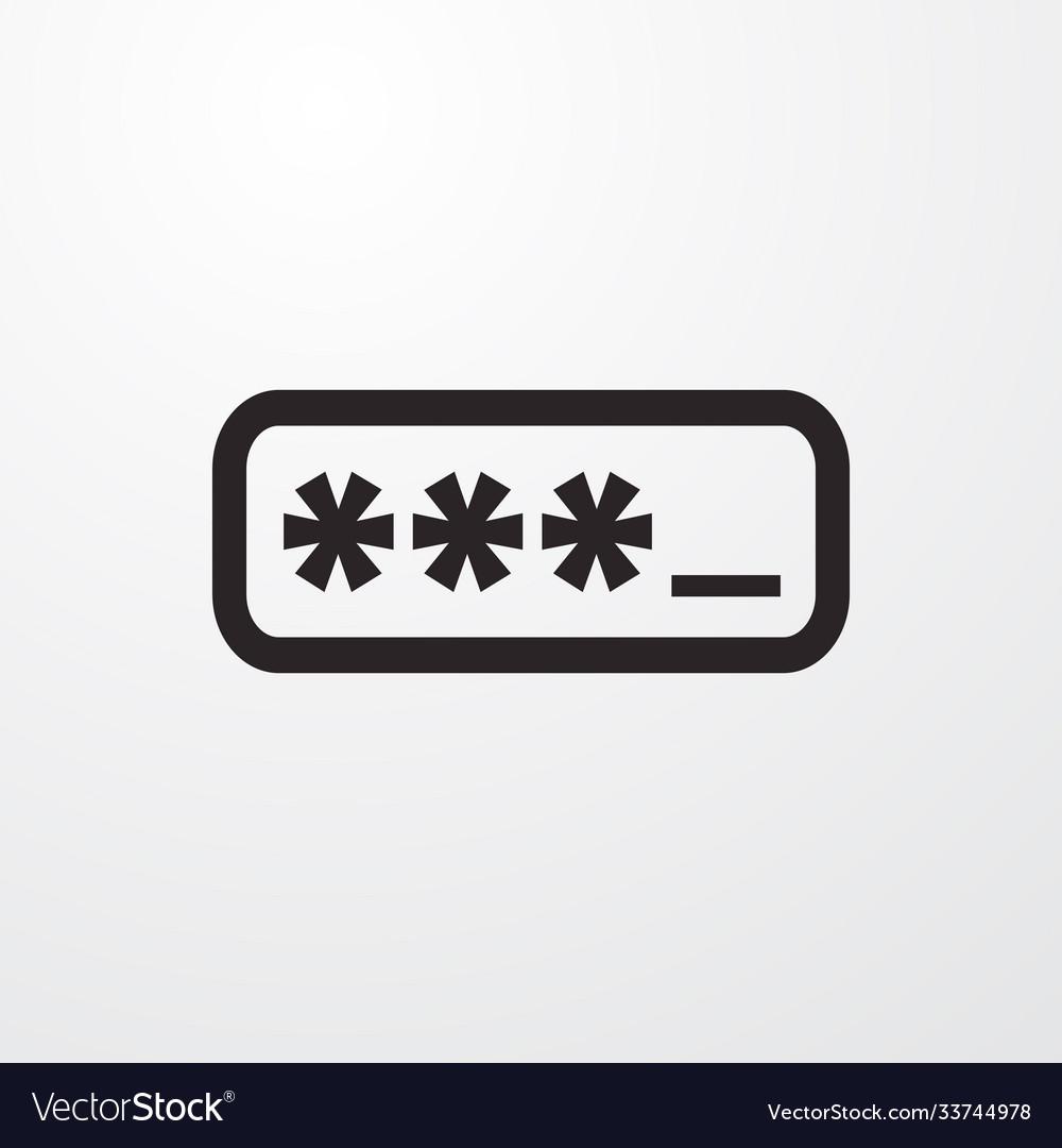Password box sign icon box symbol flat