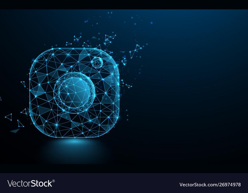 Photo camera icon and logo social media sign