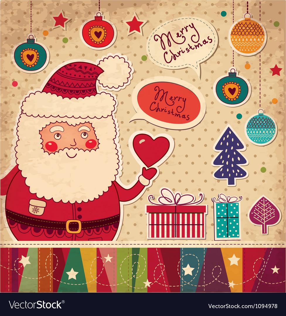 Scrapbook Arty Santa Claus