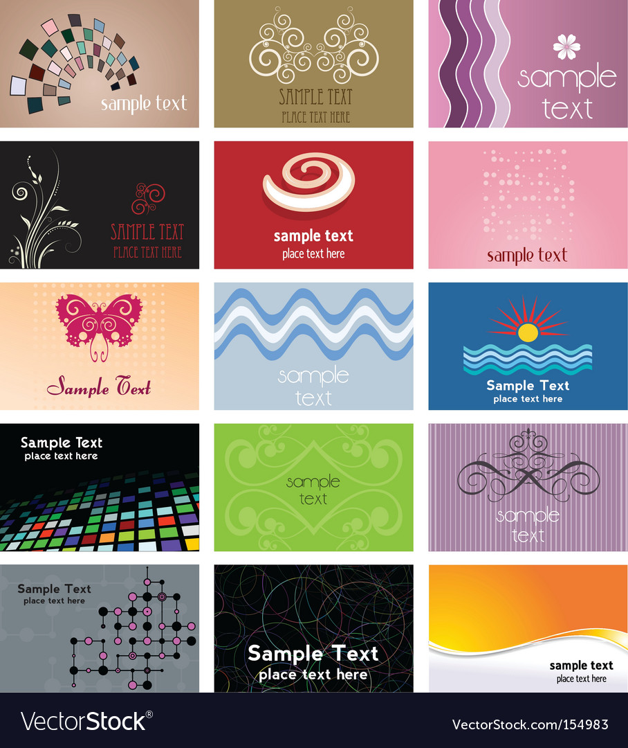 Business card designs royalty free vector image business card designs vector image reheart Choice Image