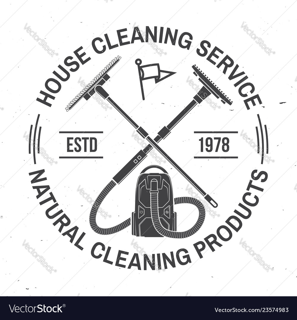 Cleaning company badge emblem