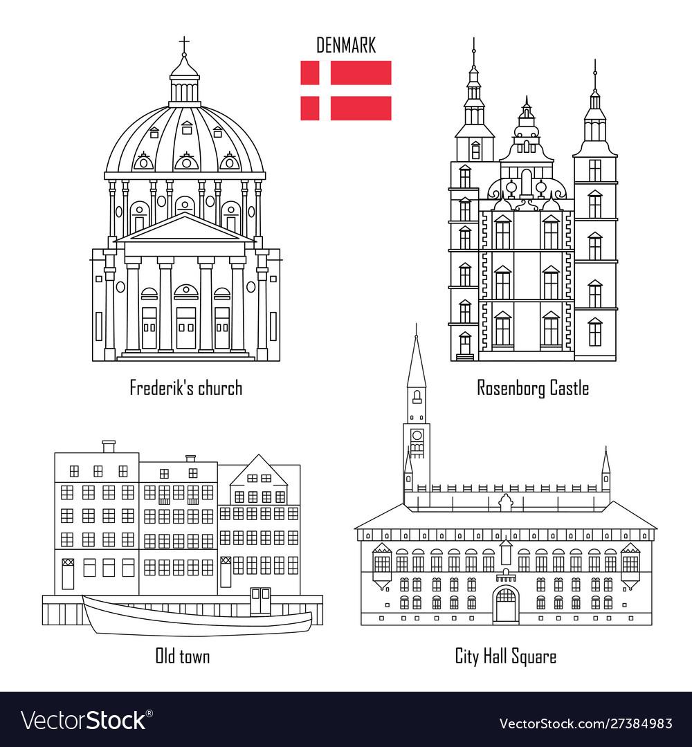 Denmark set landmark icons