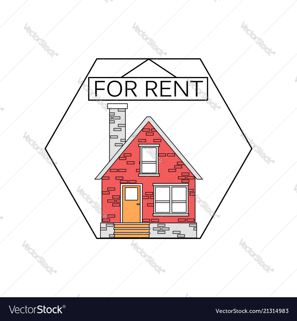 Flat linear design outlined stroke realty icons