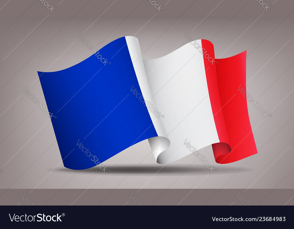France waving flag icon isolated official symbol