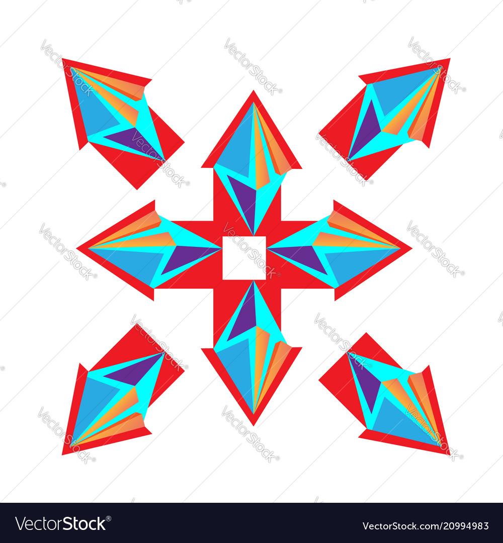 From rhombus purple arrow logo design
