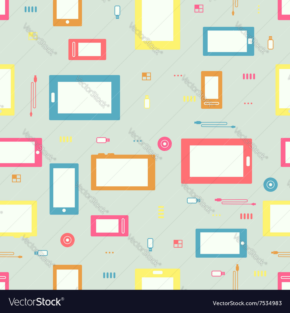 Seamless IT pattern vector image