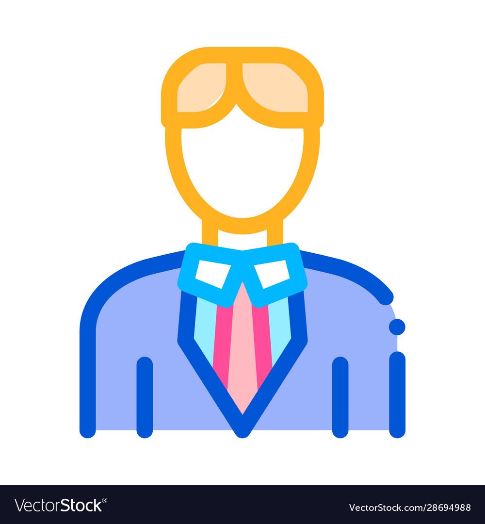 Character bridegroom man silhouette icon