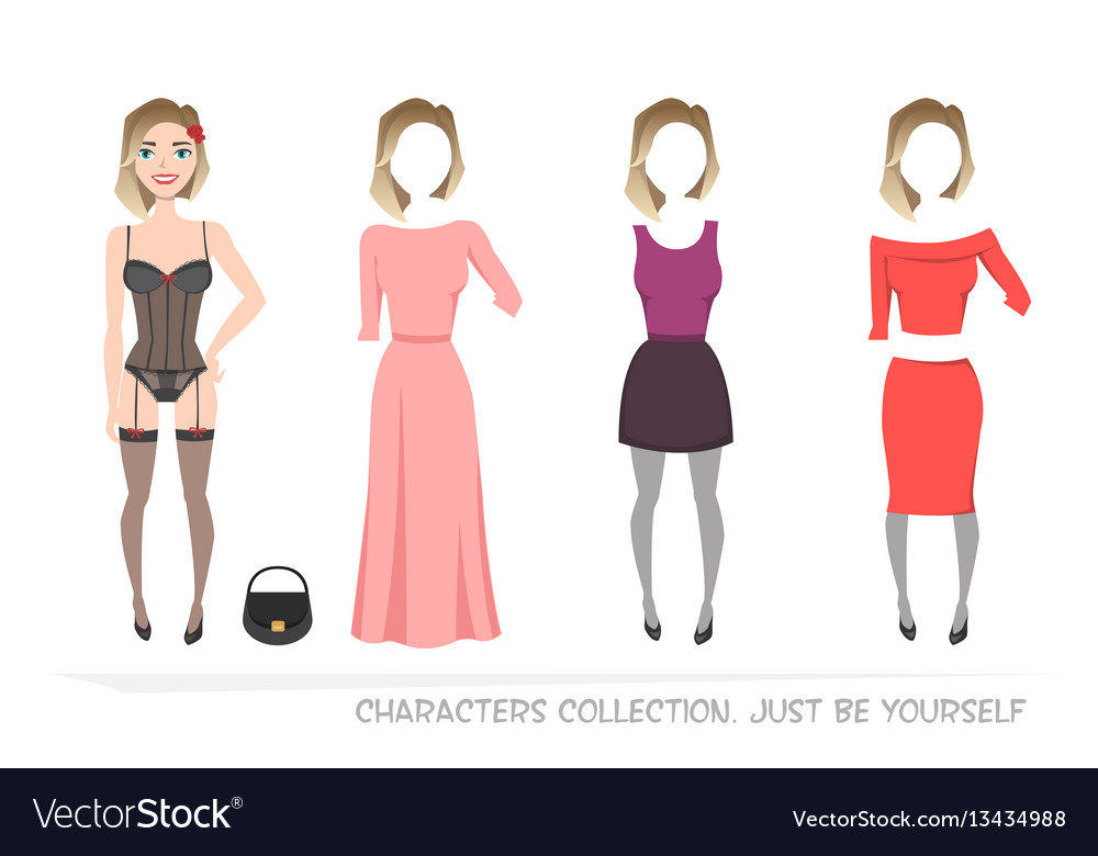 Clothing sets for female constructor character