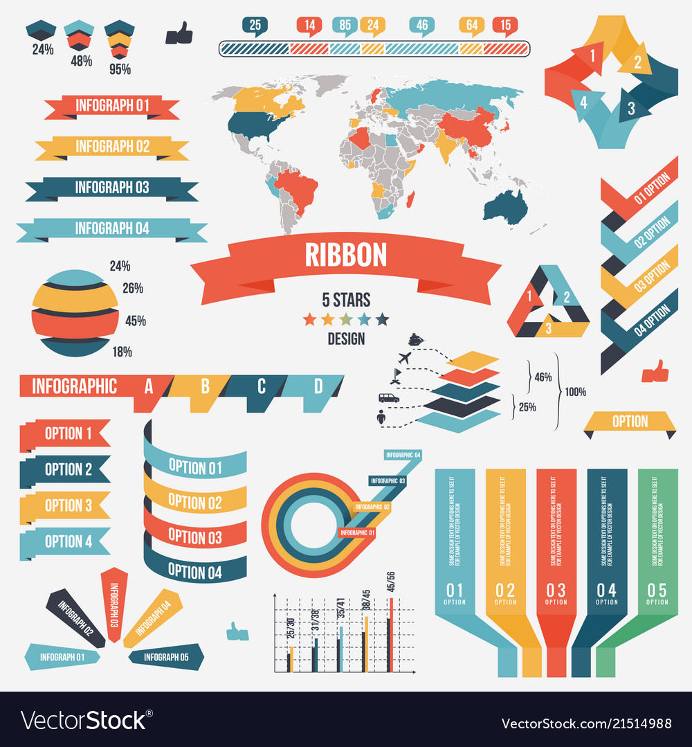 Collection infograph people elements