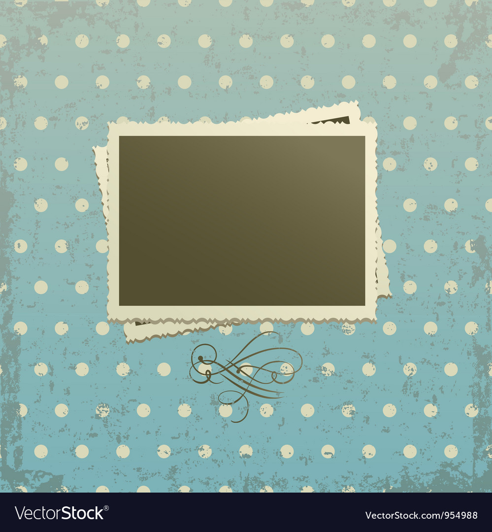 Photo frame on retro background