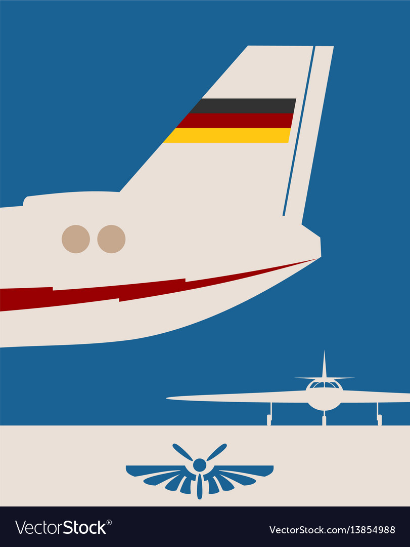 Vertical banner with the image of an airplane tail