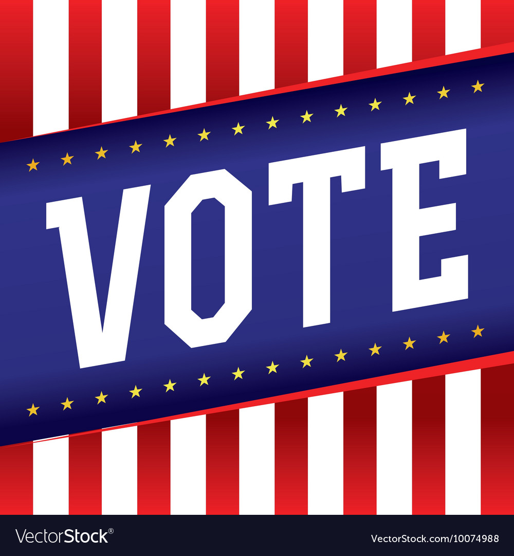 Vote Election Banner vector image