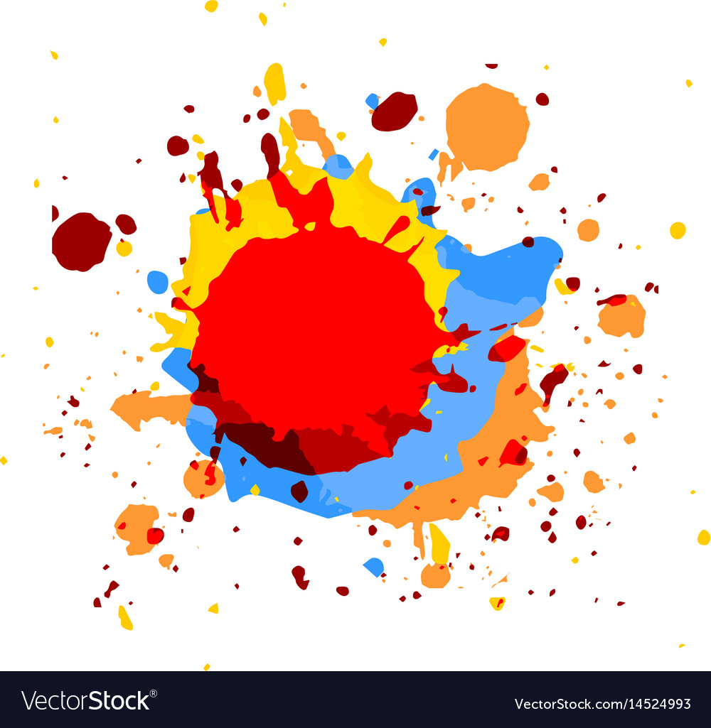 Abstract paint multi color background