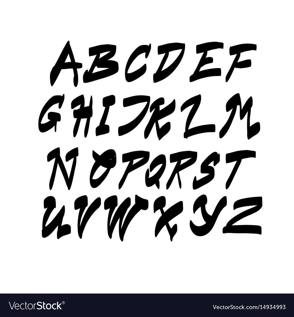 Alphabet letters collection text lettering set vector image