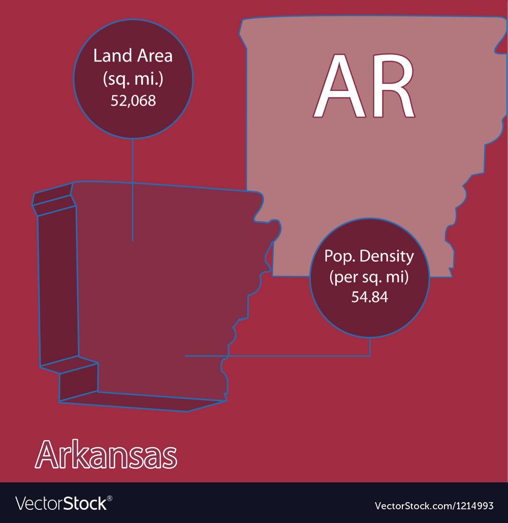 Arkansas 3D info graphic