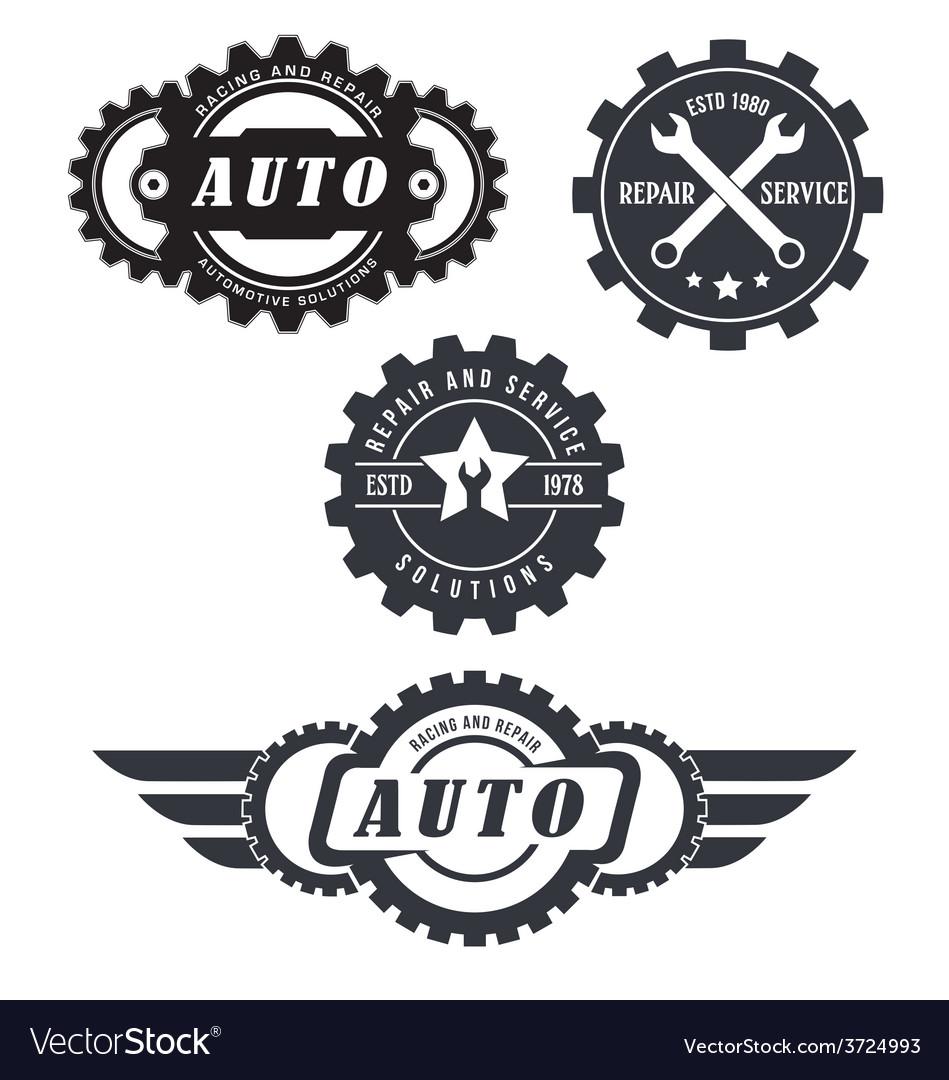 Auto Repair Logos Royalty Free Vector Image Vectorstock