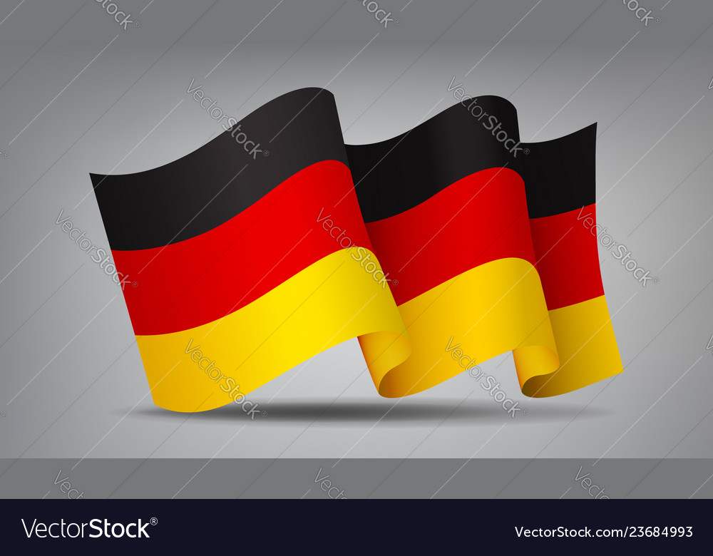 Germany waving flag icon isolated official symbol