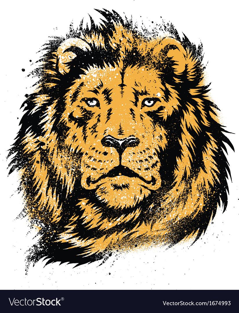 Lion Head Stencil vector image