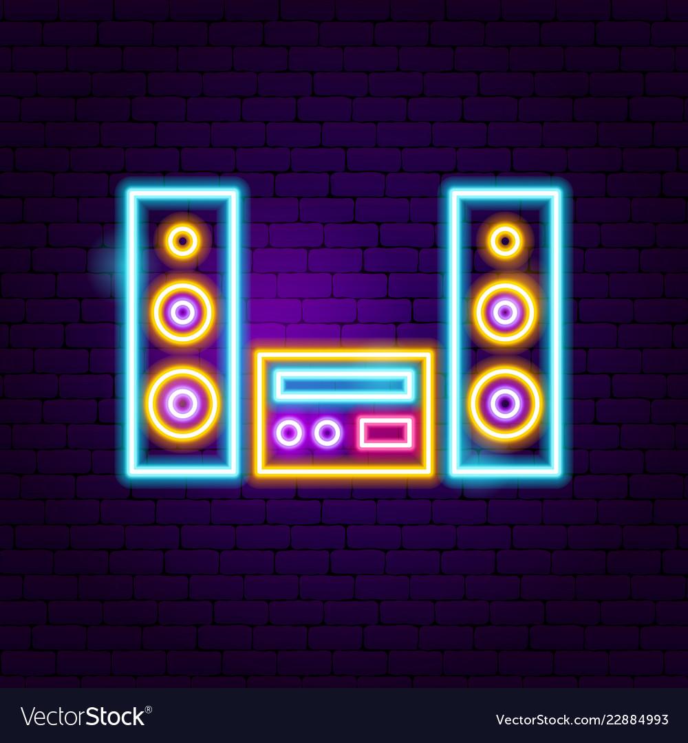Speakers neon sign