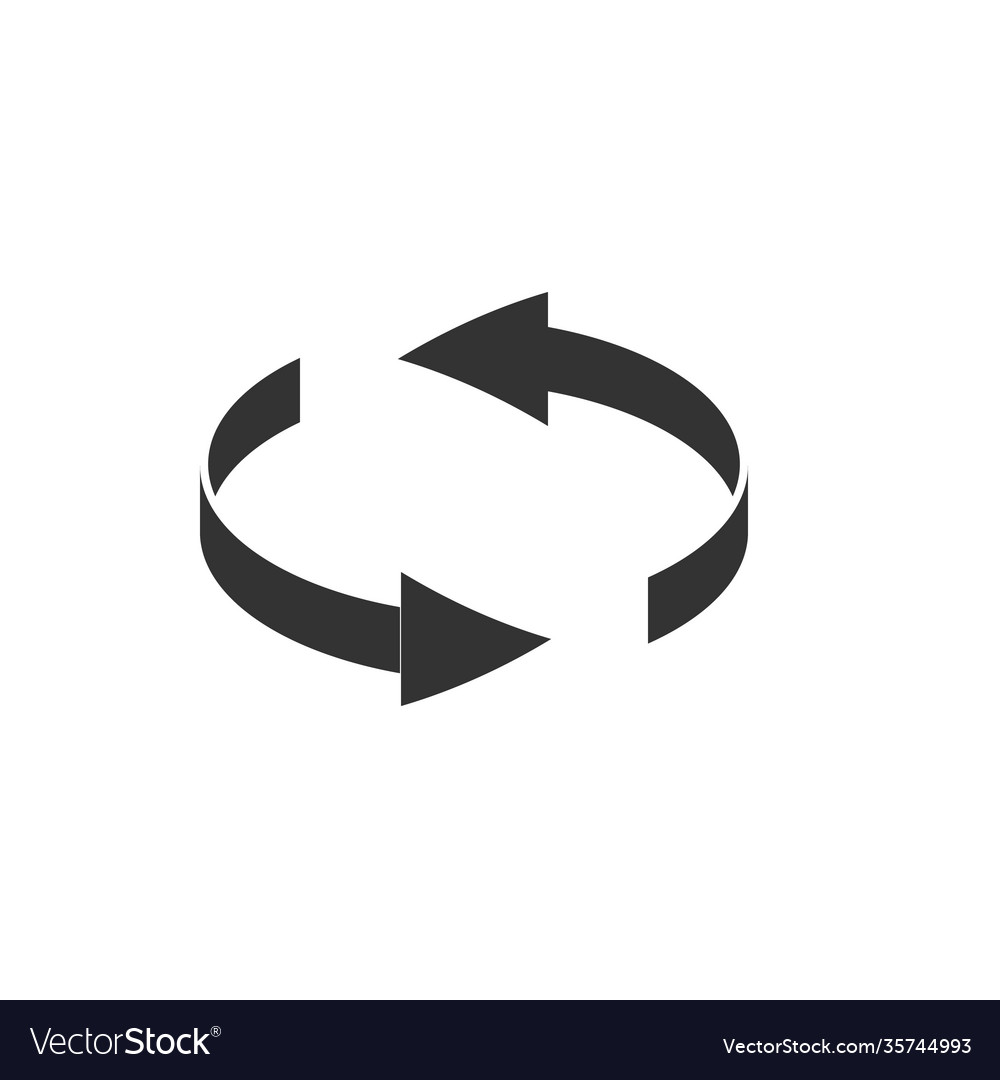 Spin rotate arrow icon reload round symbol